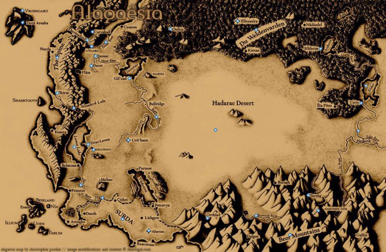 Map of Alagaesia (Eragon)