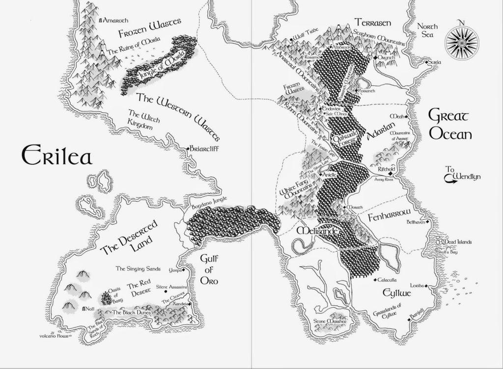 Map of Erilea (Throne of Glass)