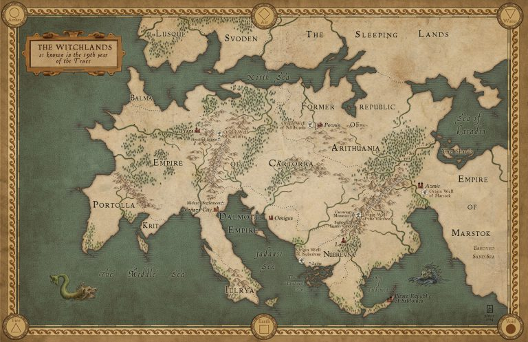 Map of The Witchlands (Truthwitch)