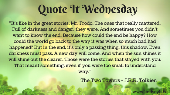 Quote it Wednesday - The Two Tower by J.R.R. Tolkien