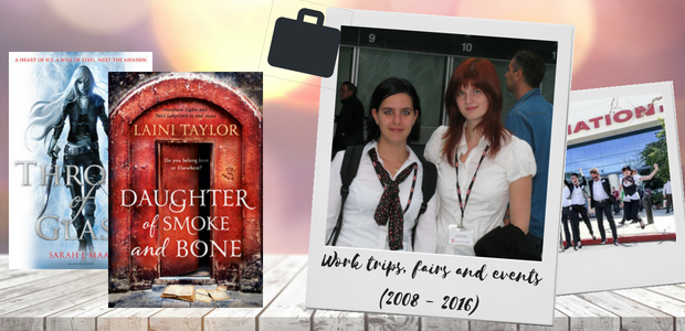 Daughter of Smoke and Bone by Laini Taylor and Throne of Glass by Sarah J. Maas